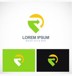 Point gps arrow direction logo vector