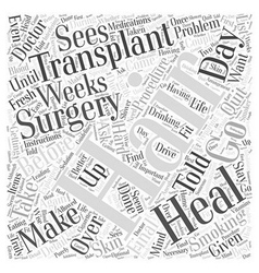 Preparing for Hair Transplant Surgery Word Cloud vector image vector image