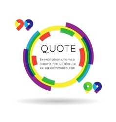 Quote template colorful information text blog vector