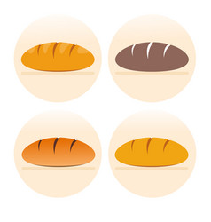 set of french bread icons vector image vector image