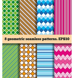 Set of geometric seamless patterns vector