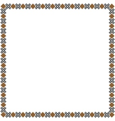 Simple geometric ethnic frame variation1 vector