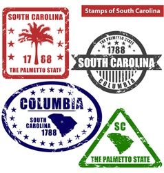 South carolina in stamps vector