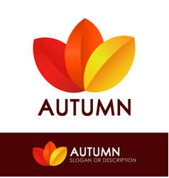 Style logo with autumn leaves vector