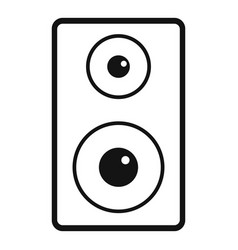 subwoofer icon simple style vector image