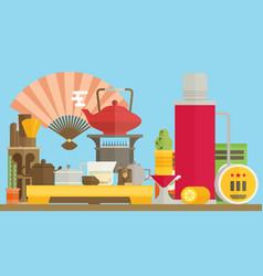 tea ceremony flat vector image