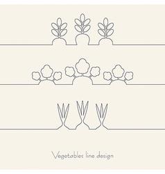 Vegetables line design vector image vector image