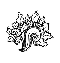 zentangle decorative element vector image vector image