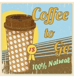 Vintage coffee cup poster vector