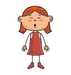 Girl kid cartoon smiling vector