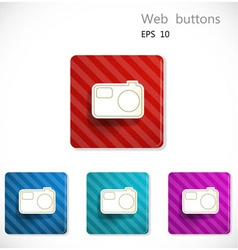 Buttons with icon of camera vector image