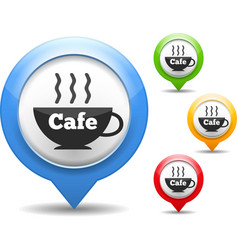 Cafe icon vector