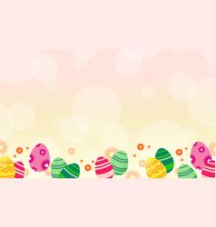 Easter egg theme greeting card vector