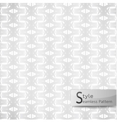 Abstract seamless pattern flower row ribbon vector