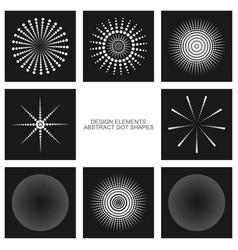 dot shapes set vector image