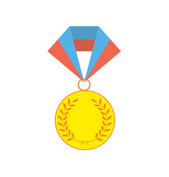 gold medallion isolated on a white background vector image