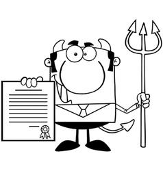 Devil bank man cartoon vector image