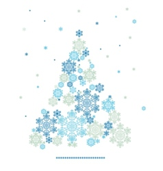Stylized silhouette of christmas tree formed by vector