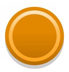 3d orange blank icon in flat style vector