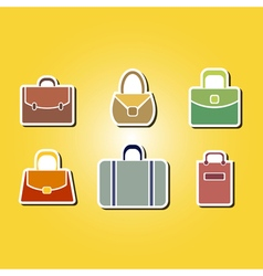 Color icons with bags vector