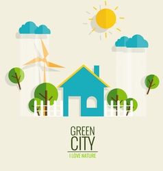 Eco friendly ecology concept with green city and vector
