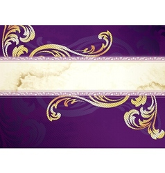 Gold and purple banner vector