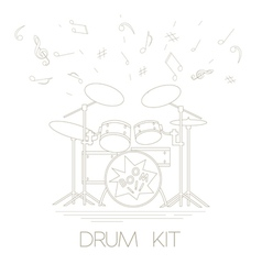 Musical instruments graphic template drumkit vector