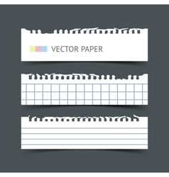 Set of notepaper horizontal web banners vector