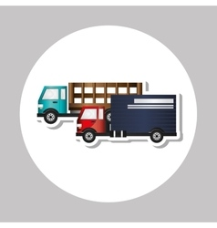 Truck graphic design  editable graphic vector