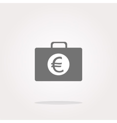 Euro case button financial icon isolated vector