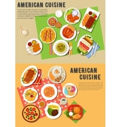Colorful flat icon of american barbecue dinner vector