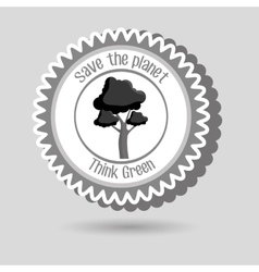 Think green isolated icon design vector