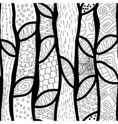 Abstract hand-drawn waves texture wavy vector