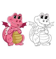 Animal outline for little dragon vector