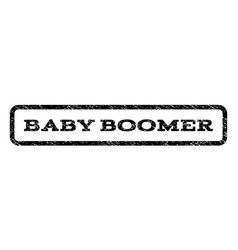 Baby boomer watermark stamp vector