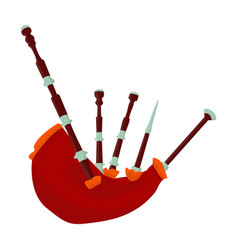 bagpipes from a cow s stomachthe national musical vector image vector image