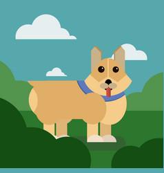 Cartoon puppy of cute dog vector