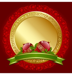 christmas plaque vector image
