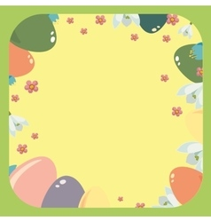 Easter frame with easter eggs vector image vector image