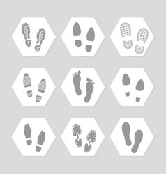 footprints icons - female male vector image vector image