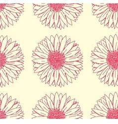 Gerbera floral pattern vector