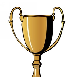 Gold Winners Cup vector image vector image