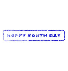 happy earth day rubber stamp vector image