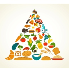 Health food pyramid vector image vector image