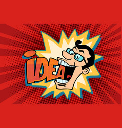 idea and man the joyful businessman vector image vector image