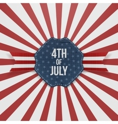 Independence day 4th of july paper badge vector