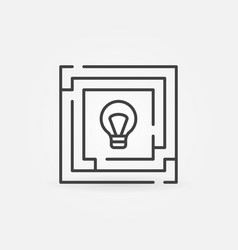 maze with bulb icon vector image vector image