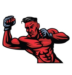MMA Fighter Mascot vector image vector image