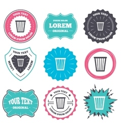 Recycle bin sign icon Bin symbol vector image vector image