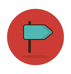 Road signpost icon vector